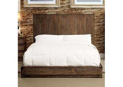 Amanrante Rustic Natural Tone Queen Platform Bed,Furniture of America