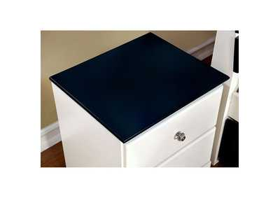 Kimmel Blue & White Nightstand