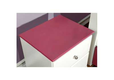 Image for Kimmel Pink & White Nightstand