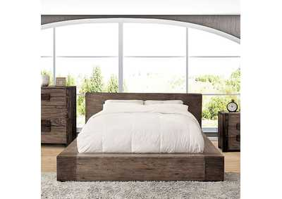 Janeiro Rustic Natural Tone Queen Platform Bed