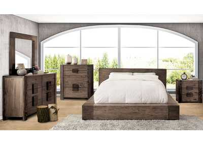 Image for Janeiro Rustic Natural Queen Bed W/ Dresser & Mirror