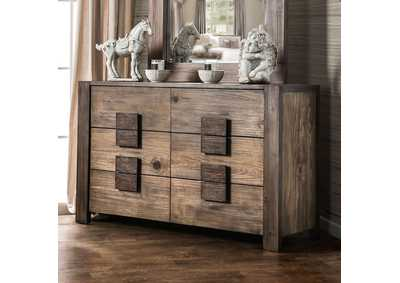 Janeiro Rustic Natural Tone Dresser,Furniture of America