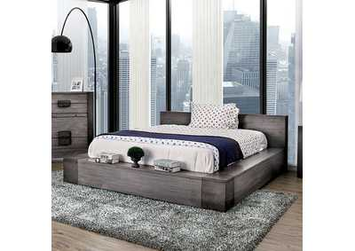 Image for Janeiro Gray Queen Platform Bed