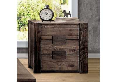 Janeiro Rustic Natural Tone Night Stand,Furniture of America