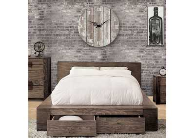 Janeiro Rustic Natural Tone Queen Bed
