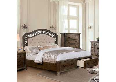 Persephone Rustic Natural Tone Queen Bed,Furniture of America