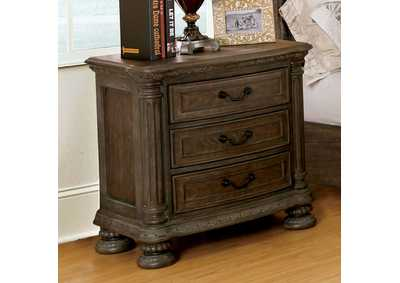 Persephone Rustic Natural Night Stand,Furniture of America