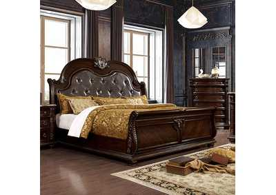 Fromberg Brown Cherry Queen Bed