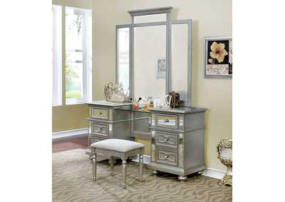Image for Salamanca Champagne Vanity w/Stool