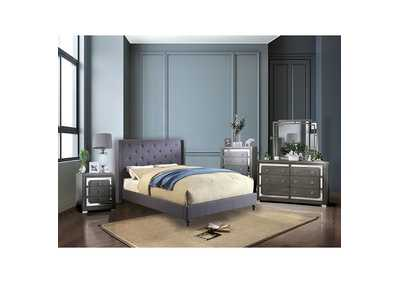 Anabelle Blue Queen Bed,Furniture of America