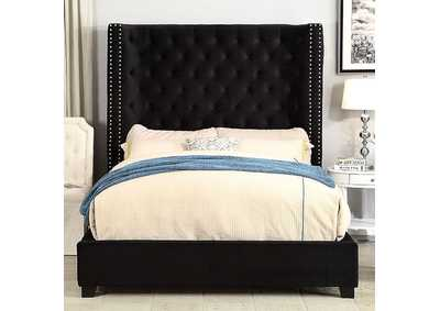 Mirabelle Black Upholstered California Bed