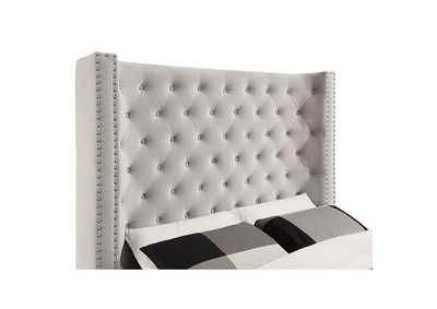 Mirabelle Ivory Upholstered Queen Bed,Furniture of America