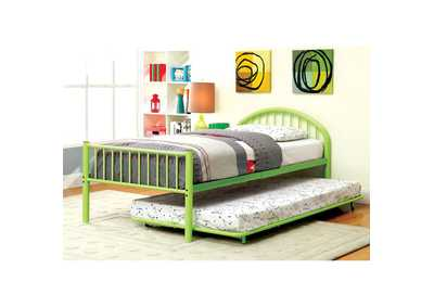 Image for Rainbow Green Low Headboard Full Metal Platform Bed