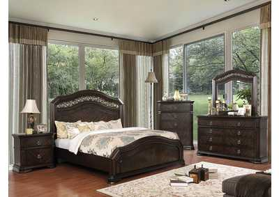 Image for Calliope Espresso Eastern King Panel Bed