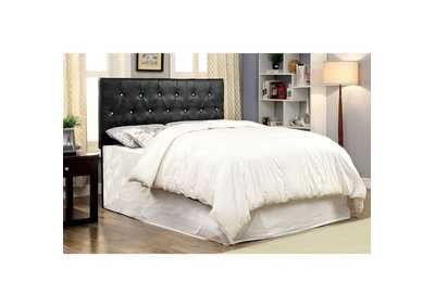 Image for Galen Black Leatherette Crocodile Skin Twin Headboard