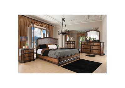 Emmaline Warm Chestnut Queen Platform Bed