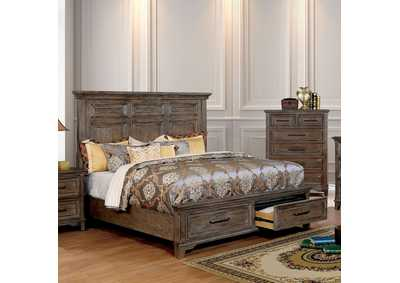 Image for Oberon Rustic Oak Queen Storage Bed