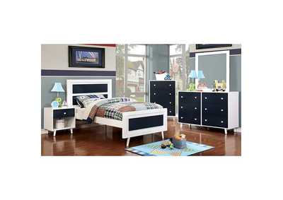 Image for Alivia Blue/White Dresser