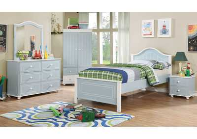 Image for Deana Blue & White Nightstand