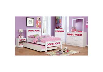 Image for Cammi Pink/White Nightstand