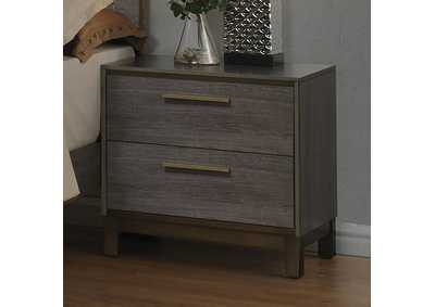 Manvel Antique Gray Nightstand,Furniture of America