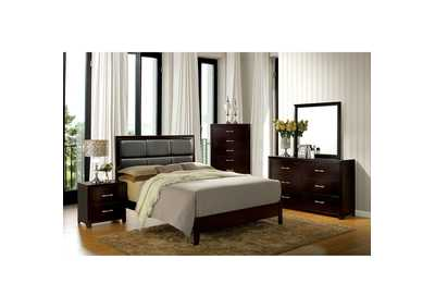 Janine Espresso Queen Bed