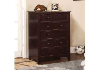 Omnus Dark Walnut Chest,Furniture of America
