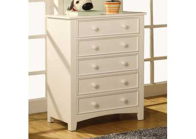Omnus White Drawer Chest,Furniture of America