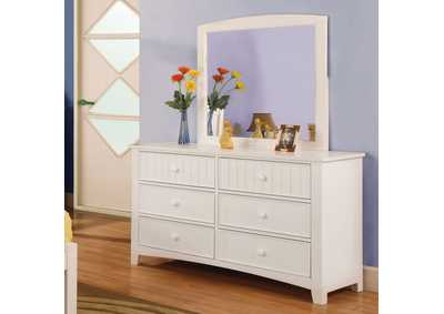 Omnus White Dresser,Furniture of America