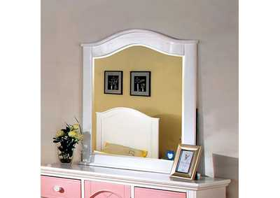 Image for Aila I Pink & White Mirror