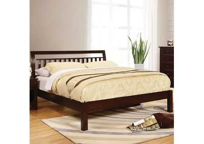 Corry Dark Walnut Queen Bed