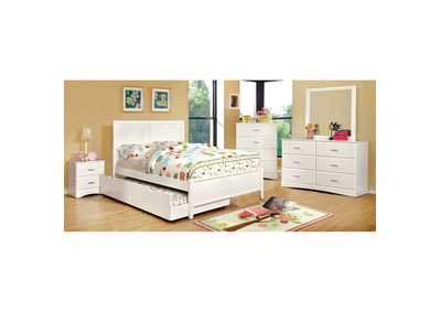 Prismo White Dresser,Furniture of America