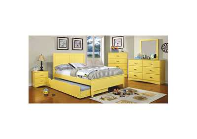 Image for Prismo Yellow Twin Platform Bed
