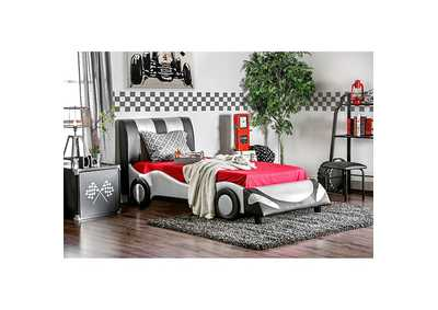 Super Racer Silver Full Bed,Furniture of America