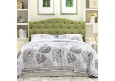 Alipaz Green Queen Headboard