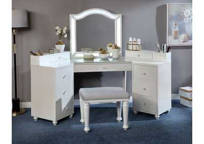 Image for Tracie Luminous White Vanity Set