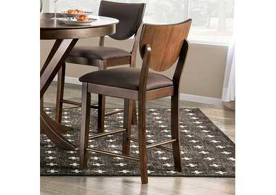 Image for Marina II Walnut Counter Height Chair [Set of 2]
