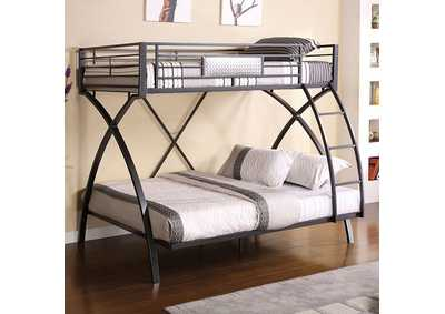 Image for Apollo Gun Metal Twin/Full Bunk Bed