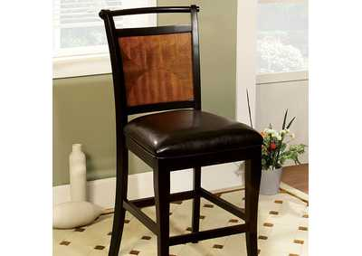 Image for Salida II Acacia/Black Counter Chair (Set of 2)
