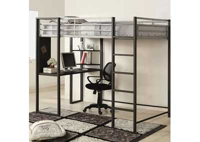 Image for Sherman Silver Full Bed/Workstation