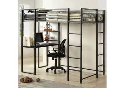 Image for Sherman Silver Twin Bed/Workstation