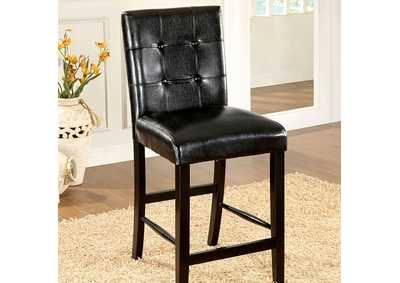 Image for Bahamas Black Counter Height Chair [Set of 2]