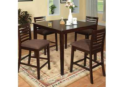 Image for Eaton Espresso 5 Piece Counter Height Table Set