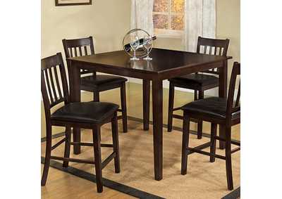 Image for Northvalle ll Espresso 5 Piece Counter Table Set