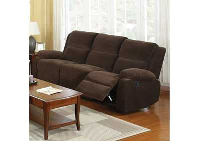Image for Haven Dark Brown Sofa w/2 Recliners