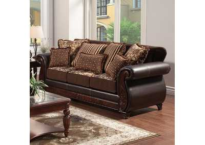 Image for Franklin Dark Brown Sofa