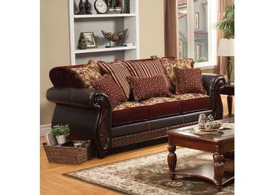 Image for Franklin Burgundy Sofa