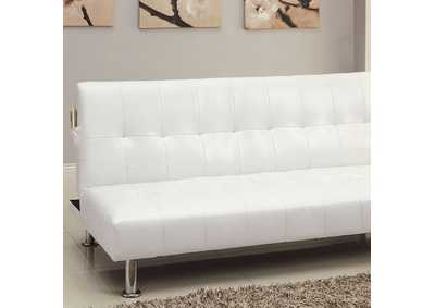 Image for Bulle White Futon Sofa