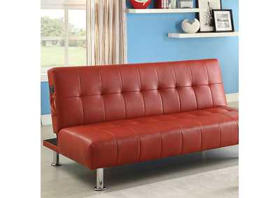 Image for Bulle Red Futon Sofa