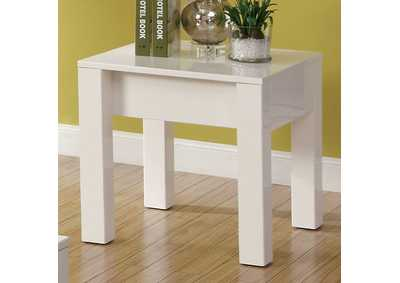 Image for Lonia White Lacquer End Table